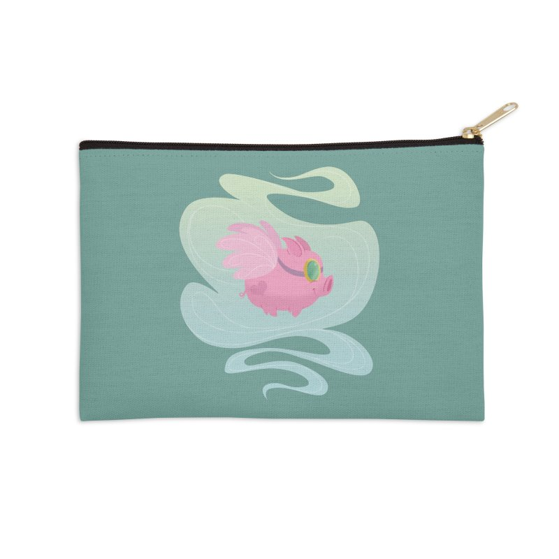 Pink Pig Accessories Zip Pouch by satruntwins's Artist Shop
