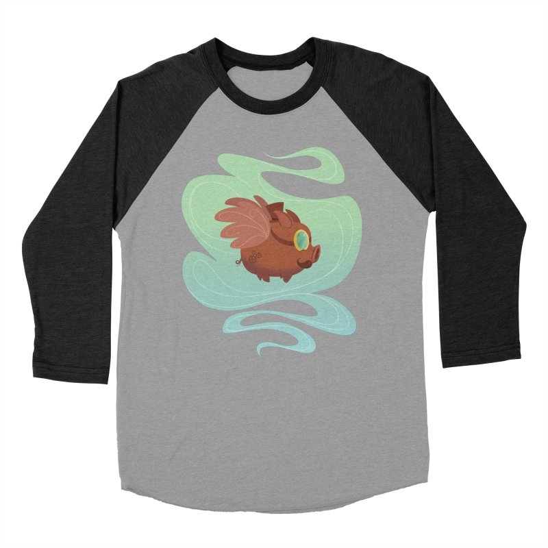 Steampunk Pig Men's Baseball Triblend T-Shirt by satruntwins's Artist Shop