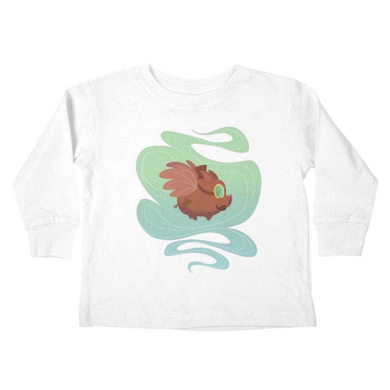 Steampunk Pig Kids Toddler Longsleeve T-Shirt by satruntwins's Artist Shop