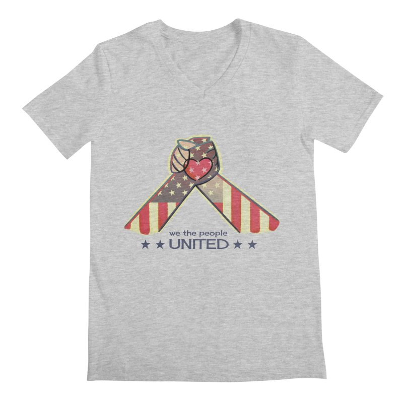 United Men's V-Neck by satruntwins's Artist Shop