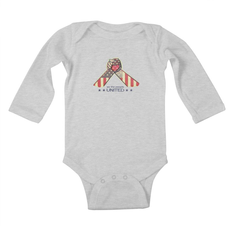 United Kids Baby Longsleeve Bodysuit by satruntwins's Artist Shop