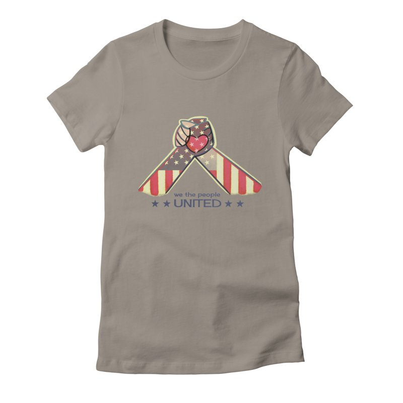 United Women's Fitted T-Shirt by satruntwins's Artist Shop