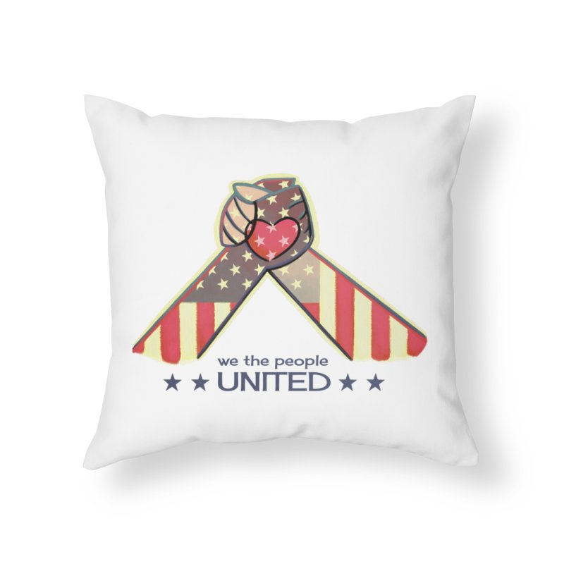 United Home Throw Pillow by satruntwins's Artist Shop