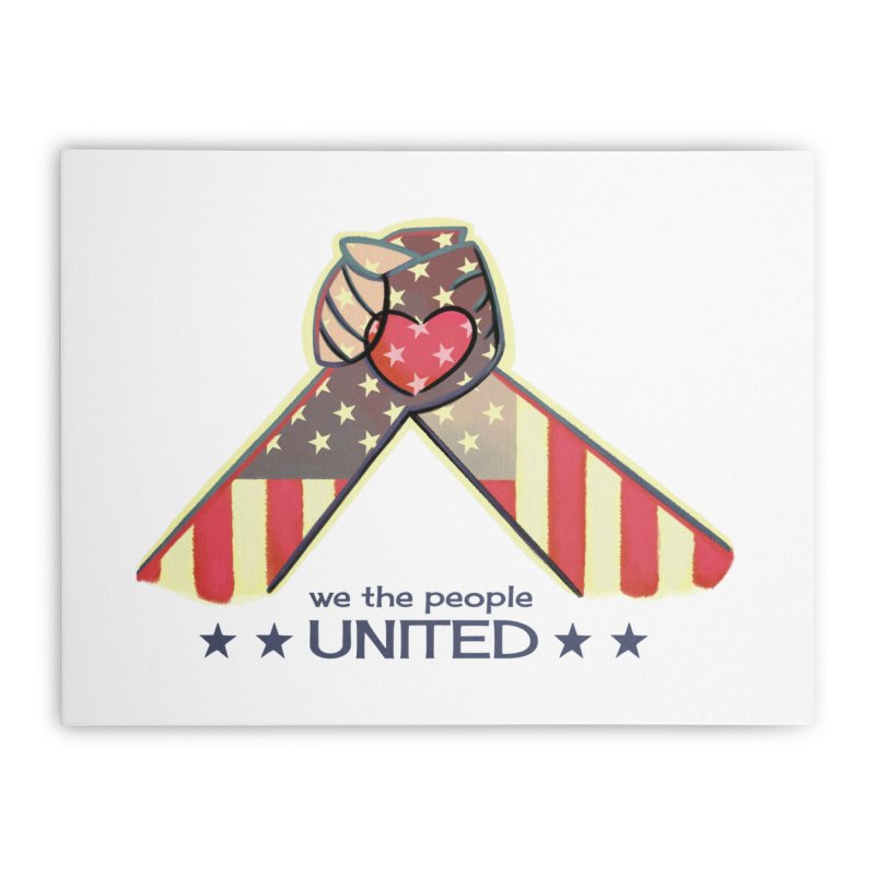 United Home Stretched Canvas by satruntwins's Artist Shop