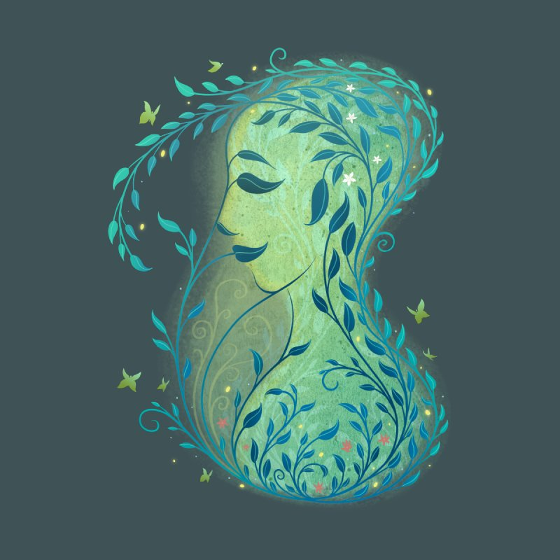 Woman in Leaves None  by satruntwins's Artist Shop