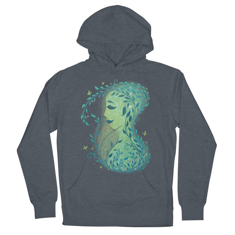 Woman in Leaves Men's Pullover Hoody by satruntwins's Artist Shop