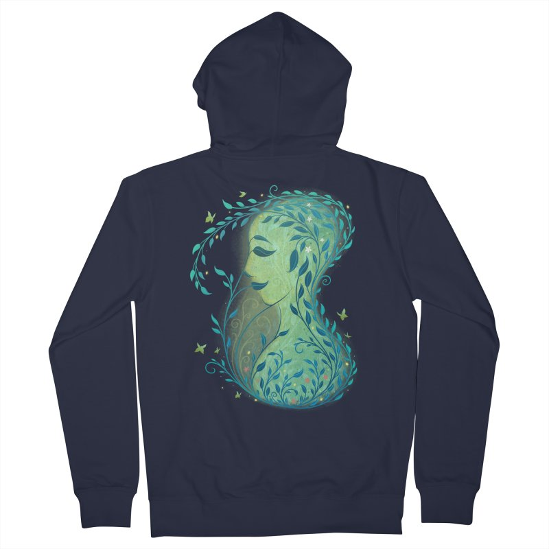 Woman in Leaves Women's Zip-Up Hoody by satruntwins's Artist Shop