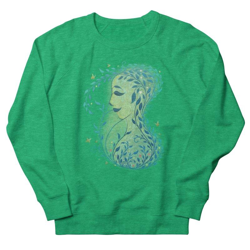 Woman in Leaves Men's Sweatshirt by satruntwins's Artist Shop