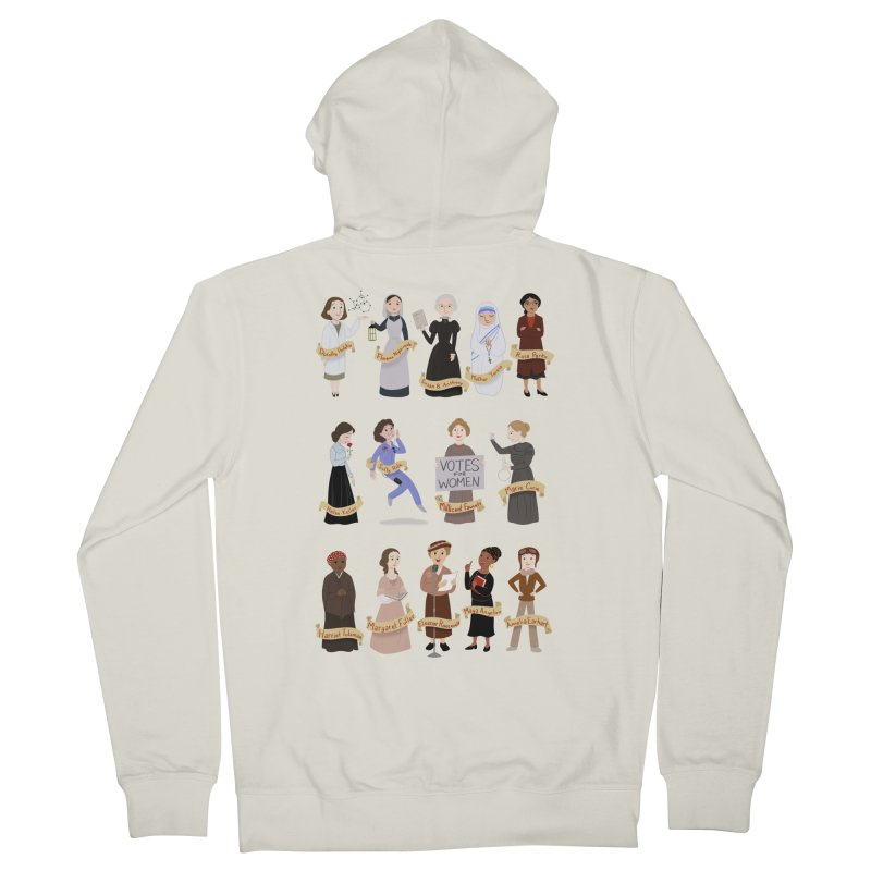 Women in History #1 Men's Zip-Up Hoody by satruntwins's Artist Shop