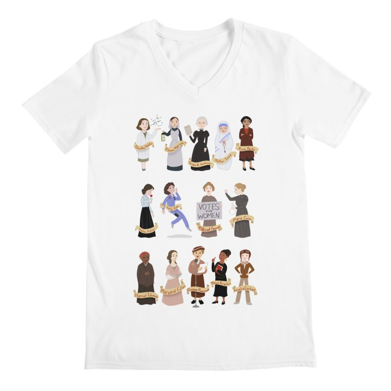 Women in History #1 Men's V-Neck by satruntwins's Artist Shop