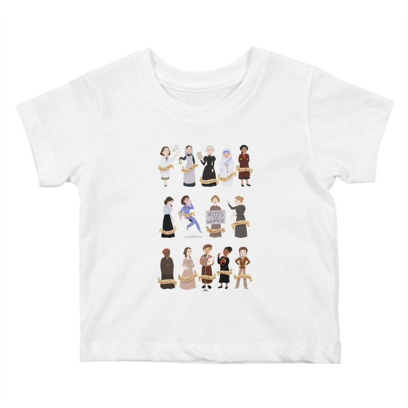Women in History #1 Kids Baby T-Shirt by satruntwins's Artist Shop
