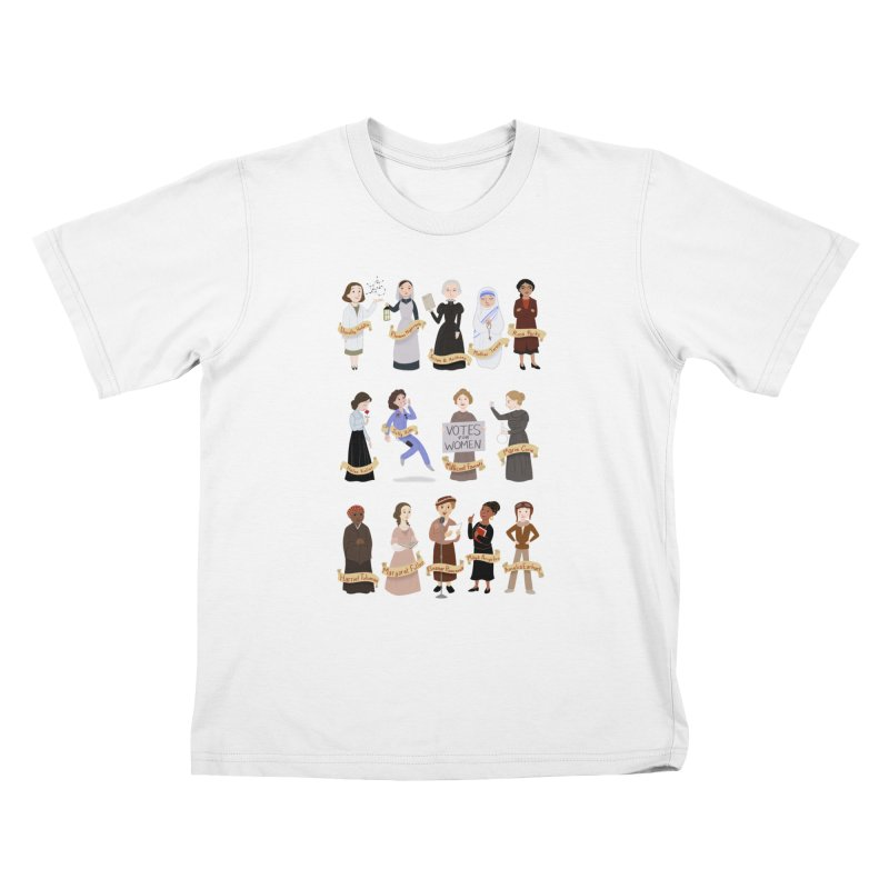 Women in History #1 Kids T-shirt by satruntwins's Artist Shop