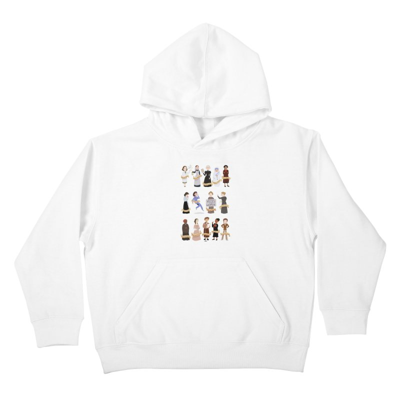Women in History #1 Kids Pullover Hoody by satruntwins's Artist Shop