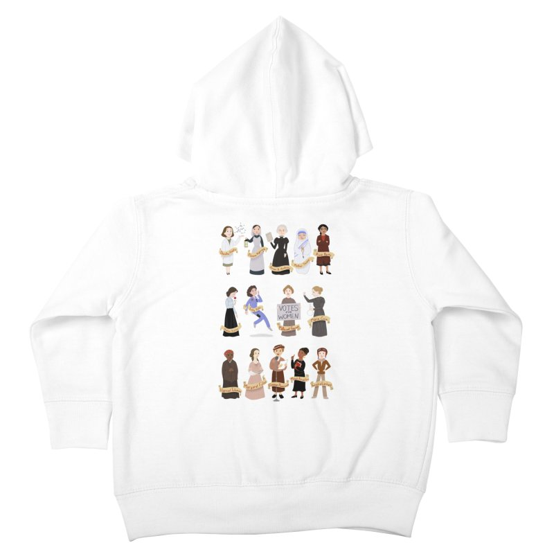 Women in History #1 Kids Toddler Zip-Up Hoody by satruntwins's Artist Shop