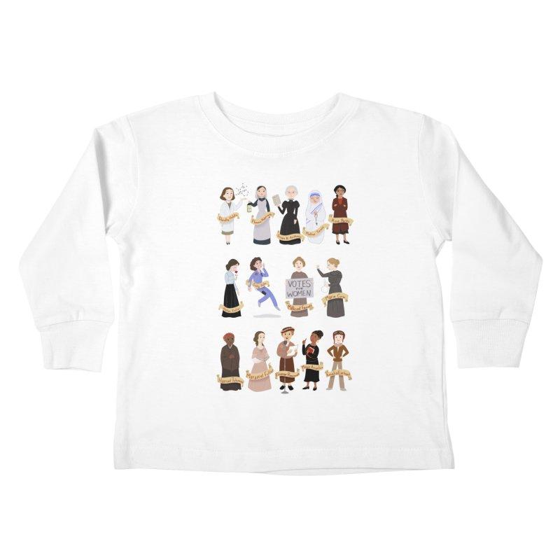 Women in History #1 Kids Toddler Longsleeve T-Shirt by satruntwins's Artist Shop