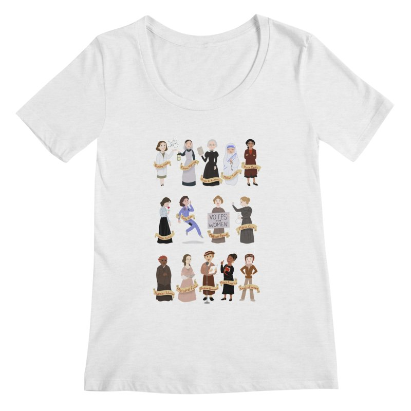 Women in History #1 Women's Scoopneck by satruntwins's Artist Shop