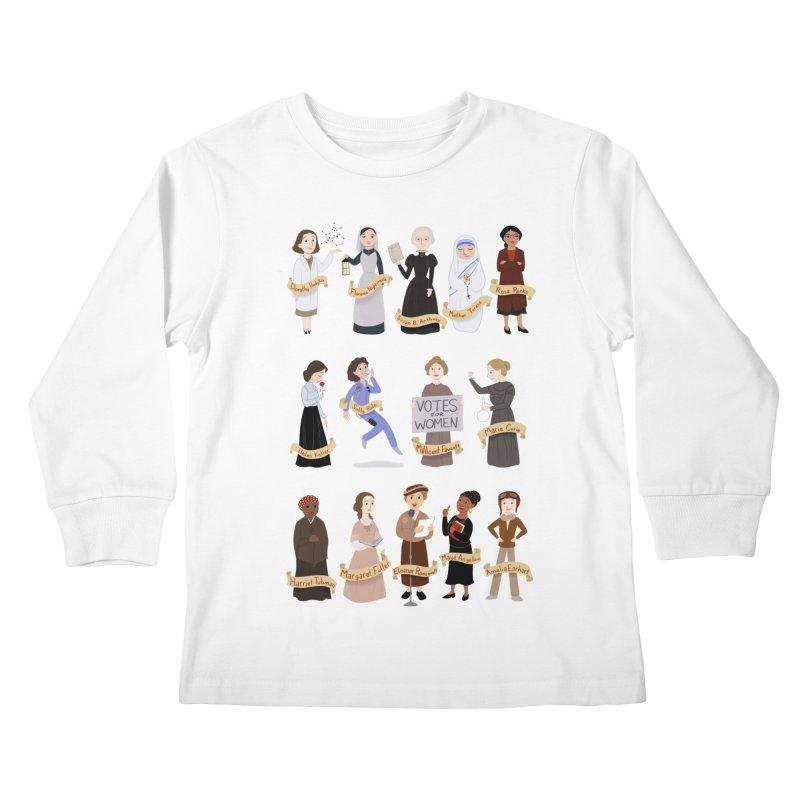Women in History #1 Kids Longsleeve T-Shirt by satruntwins's Artist Shop