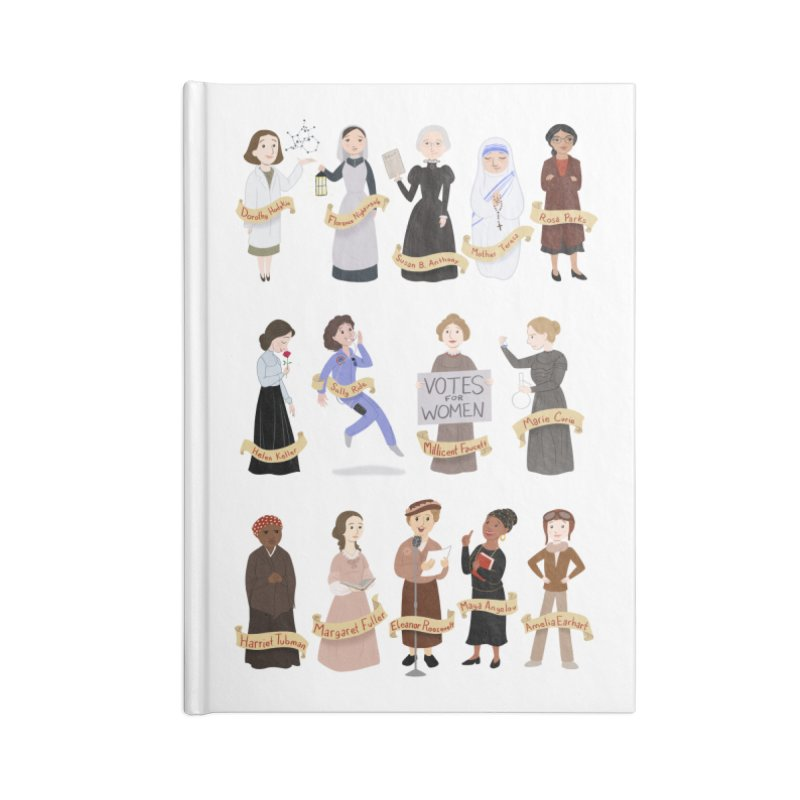 Women in History #1 Accessories Notebook by satruntwins's Artist Shop