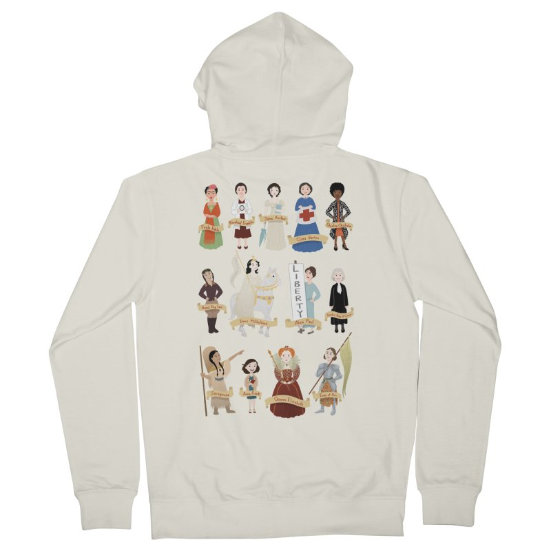 Women in History #2 Men's Zip-Up Hoody by satruntwins's Artist Shop