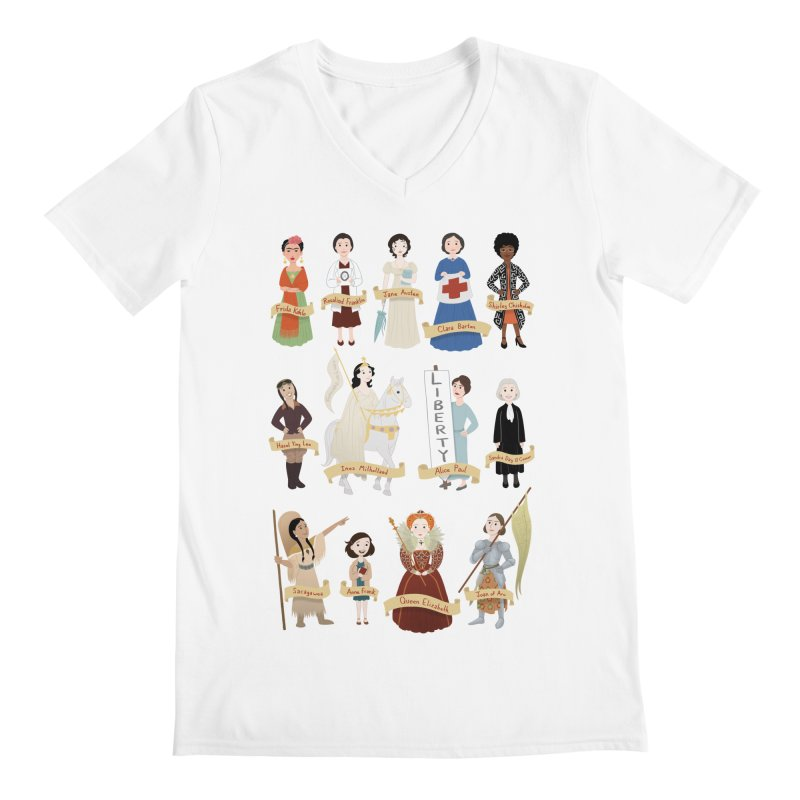 Women in History #2 Men's V-Neck by satruntwins's Artist Shop