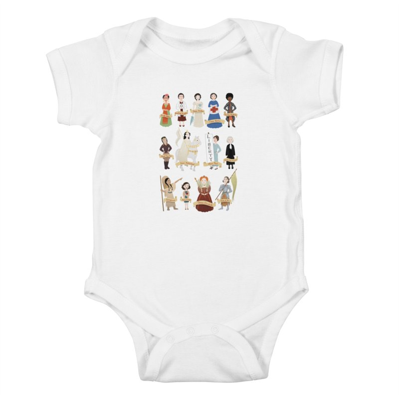 Women in History #2 Kids Baby Bodysuit by satruntwins's Artist Shop