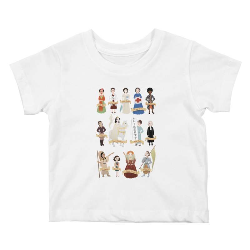 Women in History #2 Kids Baby T-Shirt by satruntwins's Artist Shop