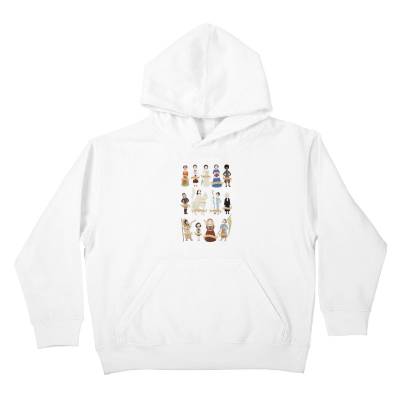 Women in History #2 Kids Pullover Hoody by satruntwins's Artist Shop