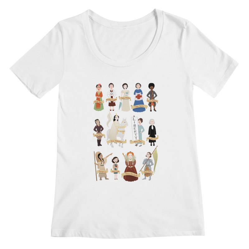 Women in History #2 Women's Scoopneck by satruntwins's Artist Shop