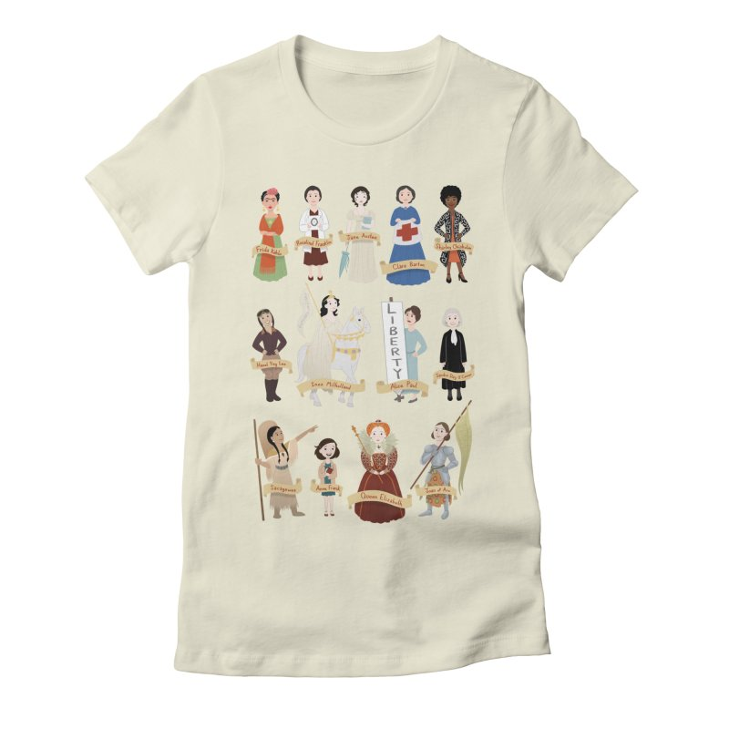 Women in History #2 Women's Fitted T-Shirt by satruntwins's Artist Shop