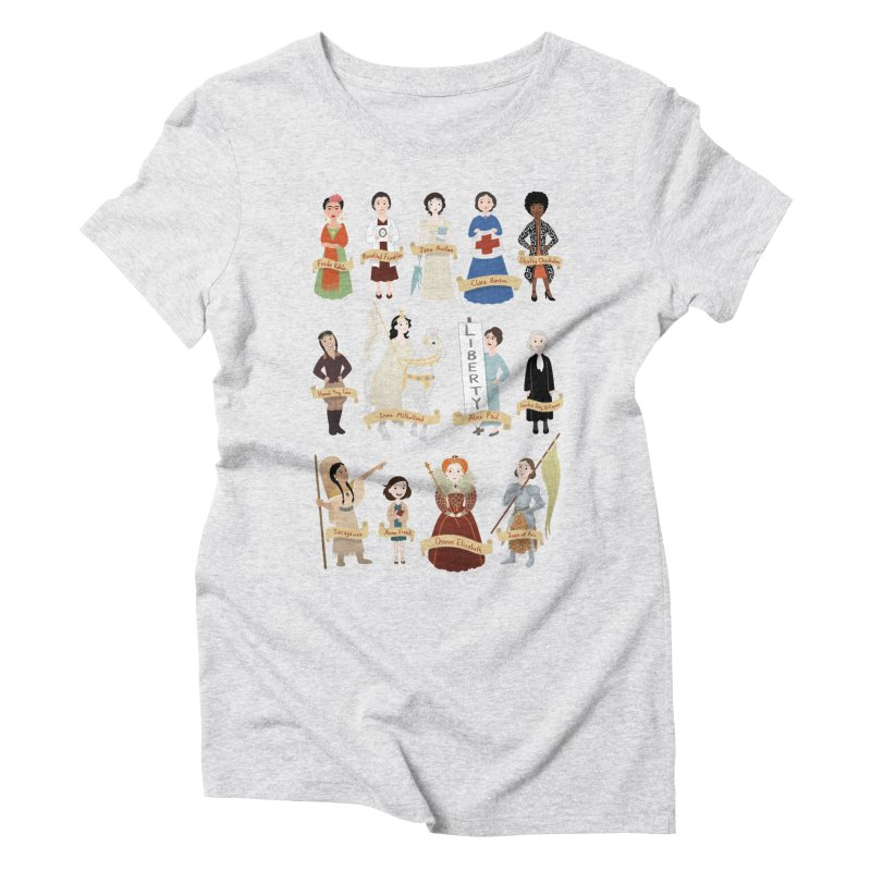 Women in History #2 Women's Triblend T-shirt by satruntwins's Artist Shop