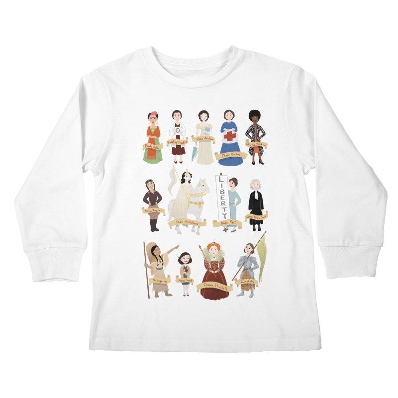 Women in History #2 Kids Longsleeve T-Shirt by satruntwins's Artist Shop