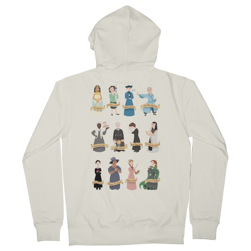 Women in History #3 Men's Zip-Up Hoody by satruntwins's Artist Shop