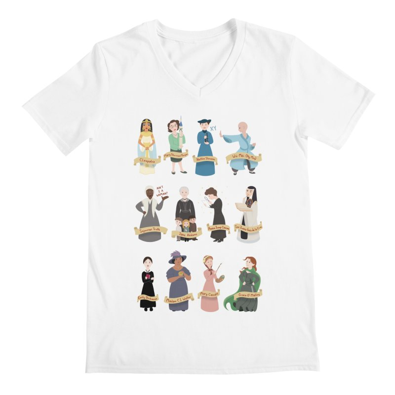 Women in History #3 Men's V-Neck by satruntwins's Artist Shop