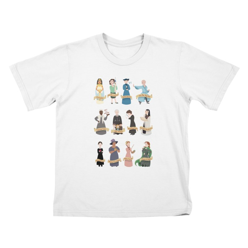 Women in History #3 Kids T-shirt by satruntwins's Artist Shop