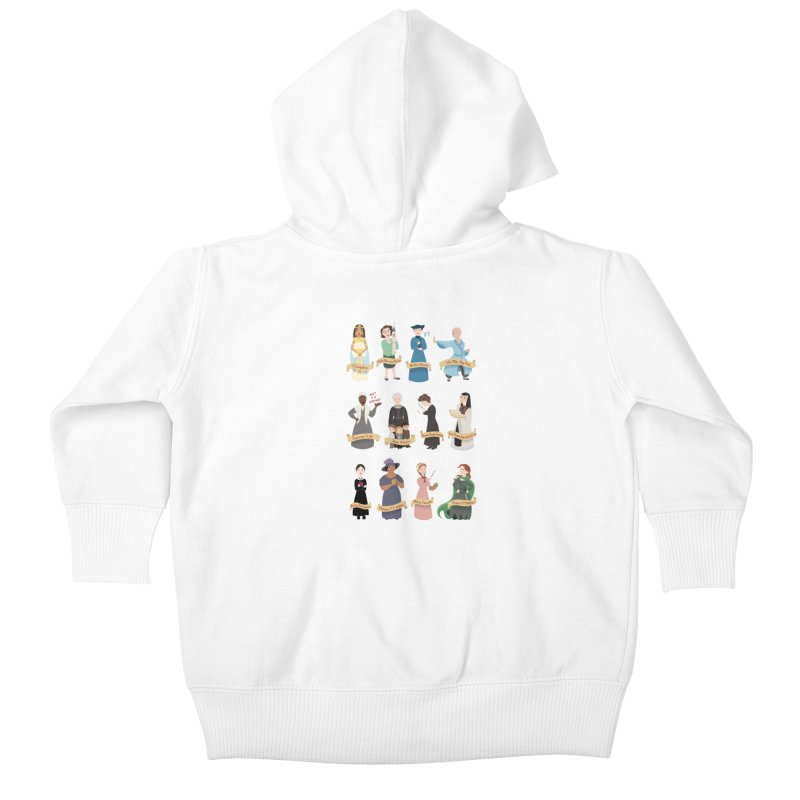Women in History #3 Kids Baby Zip-Up Hoody by satruntwins's Artist Shop