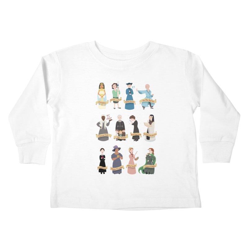 Women in History #3 Kids Toddler Longsleeve T-Shirt by satruntwins's Artist Shop