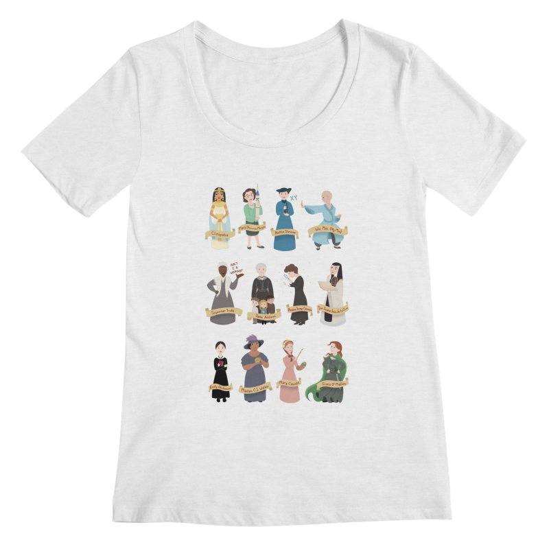Women in History #3 Women's Scoopneck by satruntwins's Artist Shop