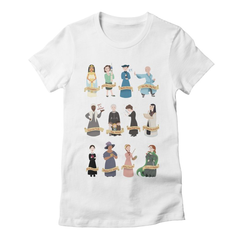 Women in History #3 Women's Fitted T-Shirt by satruntwins's Artist Shop