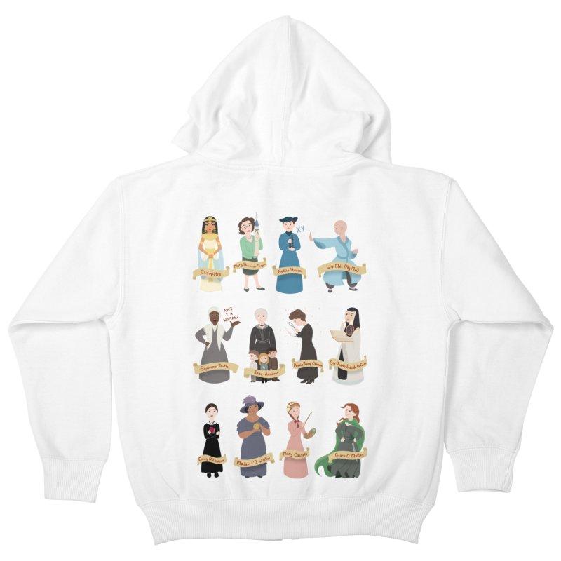 Women in History #3 Kids Zip-Up Hoody by satruntwins's Artist Shop