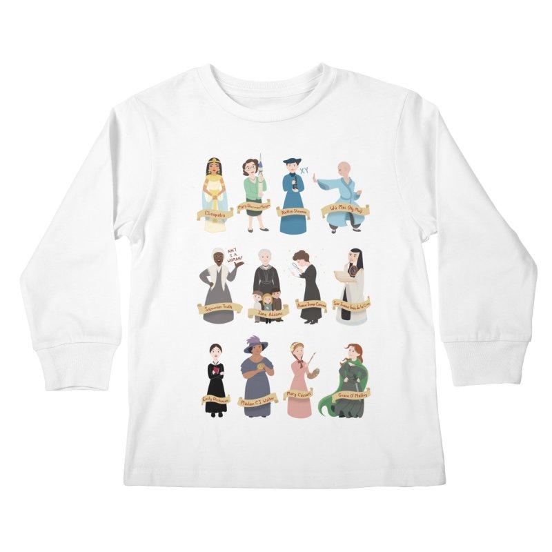 Women in History #3 Kids Longsleeve T-Shirt by satruntwins's Artist Shop