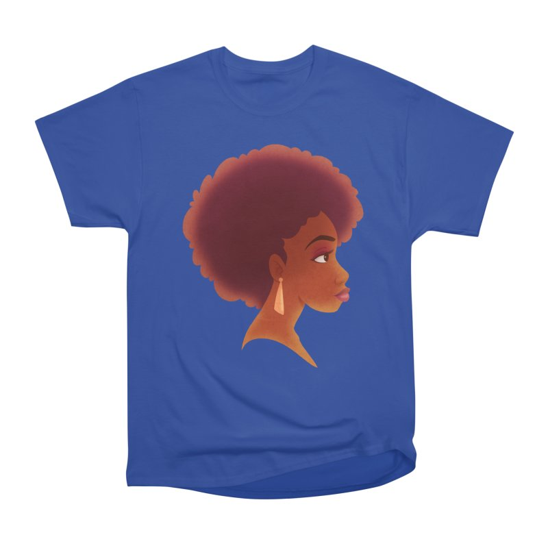 Woman in Profile Women's Classic Unisex T-Shirt by satruntwins's Artist Shop