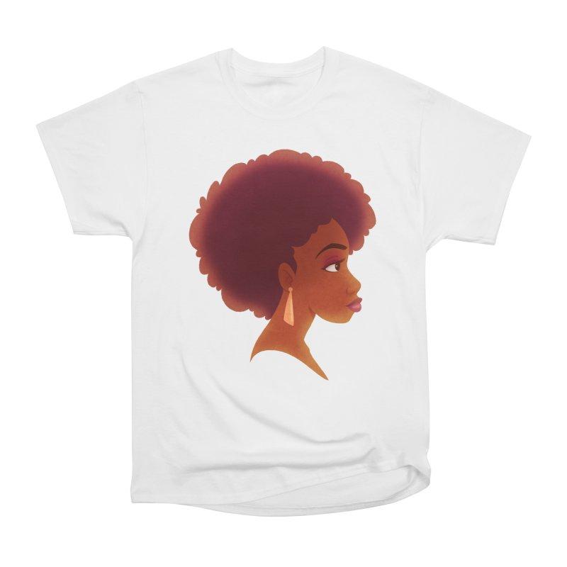 Woman in Profile Women's Heavyweight Unisex T-Shirt by satruntwins's Artist Shop