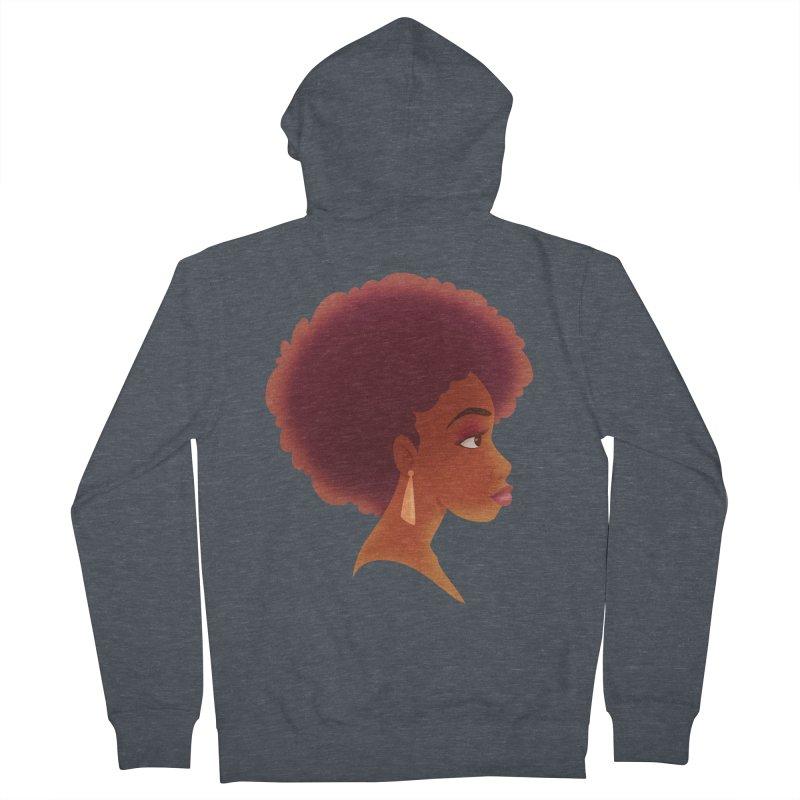 Woman in Profile Women's Zip-Up Hoody by satruntwins's Artist Shop