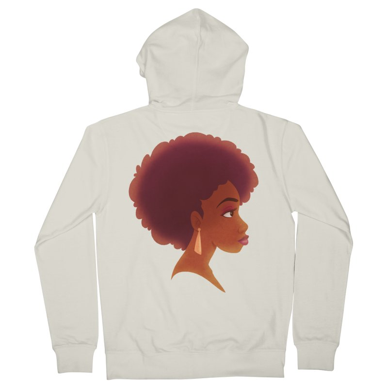 Woman in Profile Men's Zip-Up Hoody by satruntwins's Artist Shop
