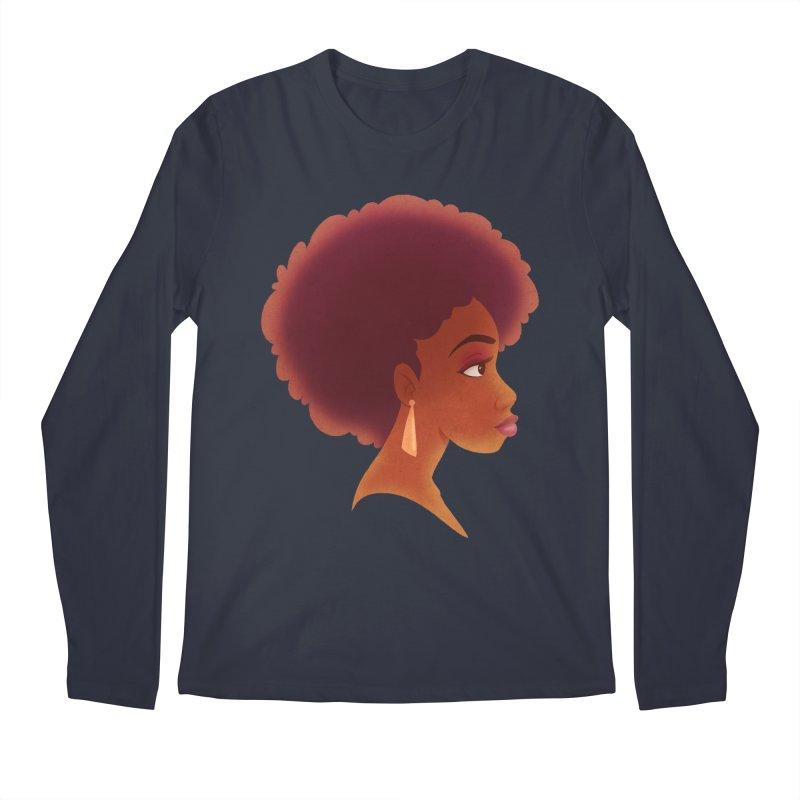 Woman in Profile Men's Longsleeve T-Shirt by satruntwins's Artist Shop