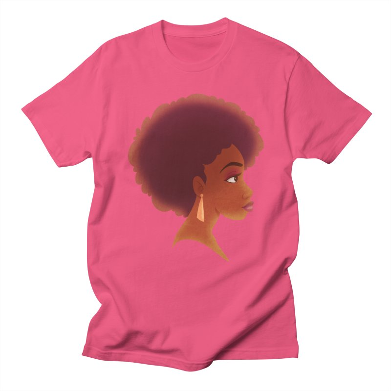 Woman in Profile Men's T-Shirt by satruntwins's Artist Shop