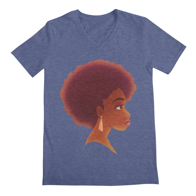 Woman in Profile Men's V-Neck by satruntwins's Artist Shop