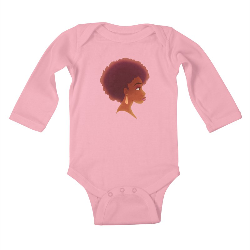 Woman in Profile Kids Baby Longsleeve Bodysuit by satruntwins's Artist Shop