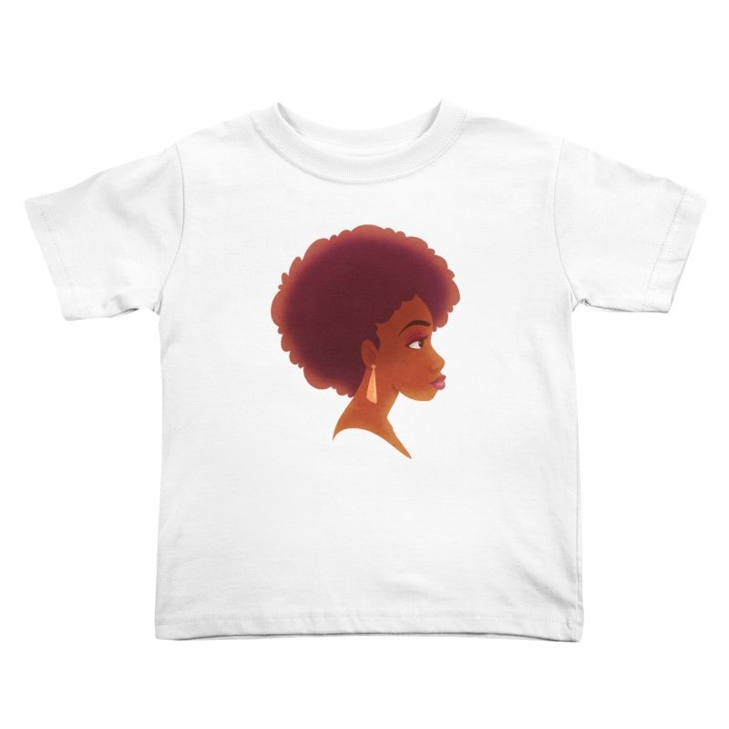 Woman in Profile Kids Toddler T-Shirt by satruntwins's Artist Shop