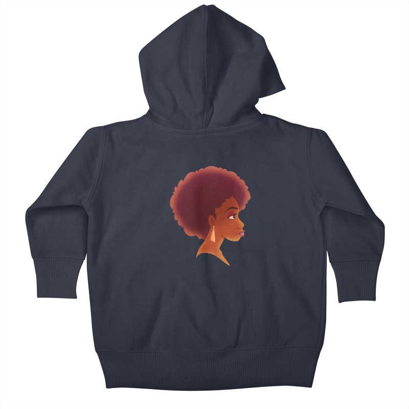 Woman in Profile Kids Baby Zip-Up Hoody by satruntwins's Artist Shop